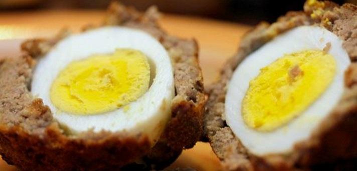 Mesne kroglice z jajcem