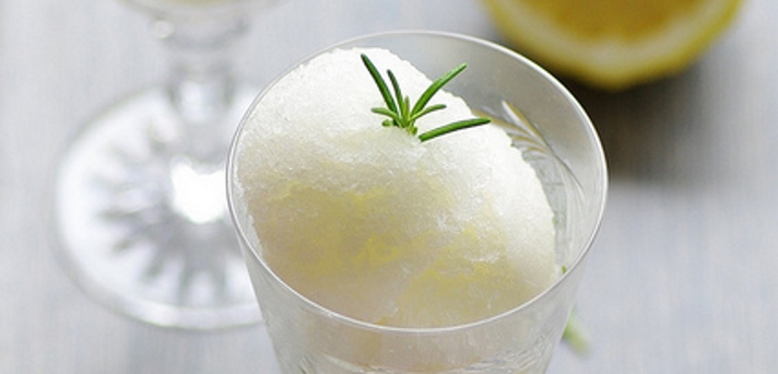 Sorbet z rožmarinom in limono