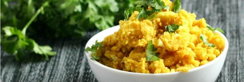 Feelgood curry in cvetačni riž