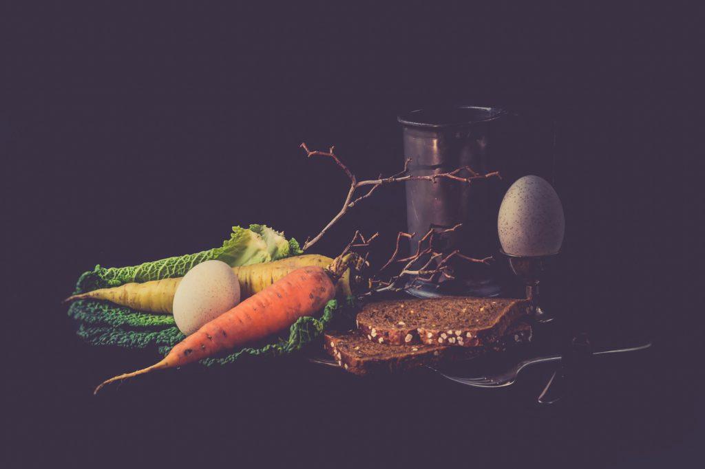 jajca korenček zelenjava