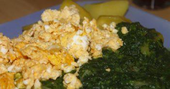 Špinača jajca