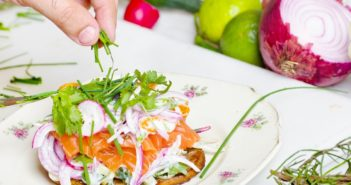 hrana sendvič zdrav zelenjava losos