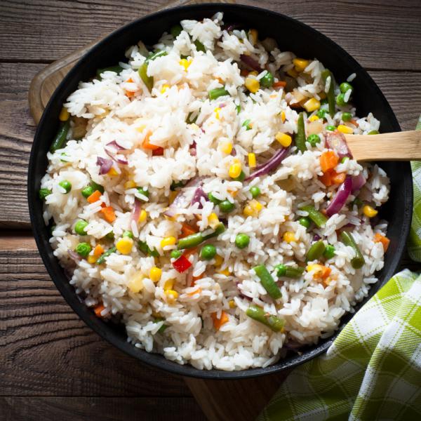Pražen riž z zelenjavo